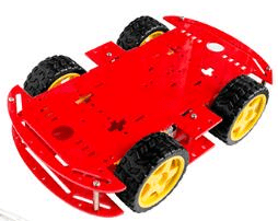 Red 4WD Dual Classis Robot Car