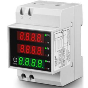 D52-2047 Power Meter Power Factor Voltmetro+Ampermeter Display 200-450V external CT 100A