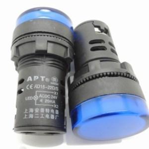 Spia luminosa da pannello Blu AD16-22D/S 24V Foro 16MM