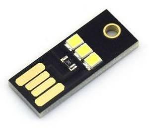 2 pezzi MINI USB LED bianco con cavo USB in metallo