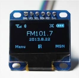"""Modulo LCD blu OLED da 0,96 """"Comunicazione SPI 12864 a 6 pin"""