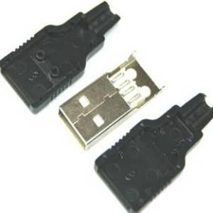 4 pezzi Connettore USB tipo A maschio