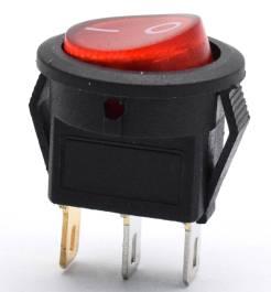 Interruttore rotondo KCD1 / interruttore I / O 15mm / 3 pin 3 posizioni interruttore 15A 250V