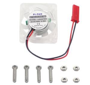 3007 Dissipatore ventola trasparente 5V con luce LED per Raspberry PI