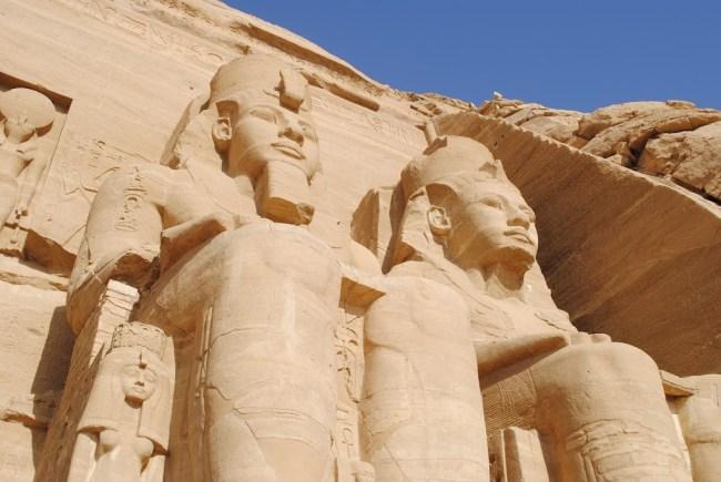 Personificación de Ramsés II, templo de Abu Simbel