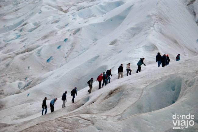 Mini trekking por el glaciar Moreno