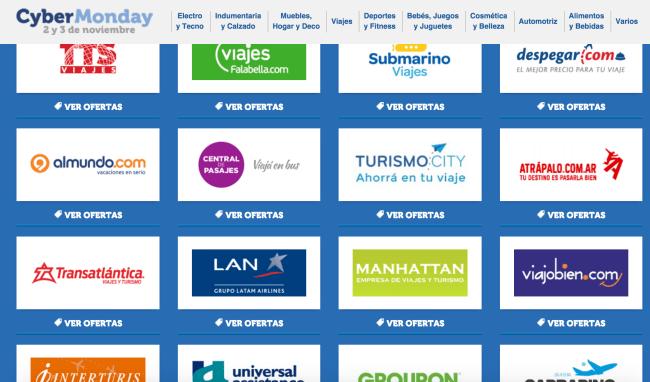 Empresas de viajes en Cyber Monday 2015