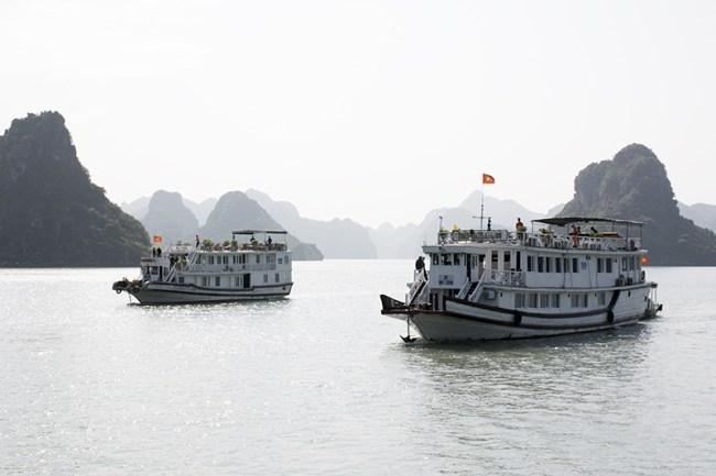 Barcos de Halong Bay