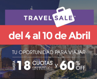 Travel Sale: Del 4 al 10 de Abril