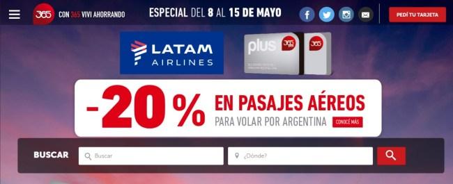 Promoción para volar por Argentina con Clarín 365 y LATAM