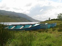 Boats by the Fintown Railway
