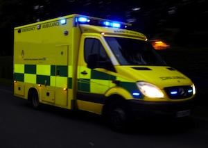 Emergency services are at the scene of a serious road collision in Glenties.