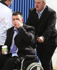 Mr Coyle appearing at an earlier court sitting. Pic by Northwest Newspix.