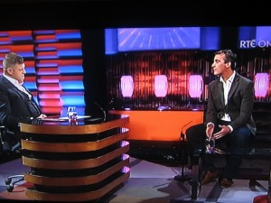 JIM MCGUINNESS will appear on The Saturday Night Show this weekend.