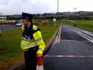 Gardai are stopping people entering the A@E as a precaution.
