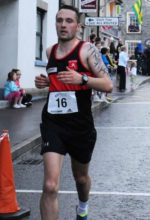 Milford 5k 3rd Gareth Kerrigan
