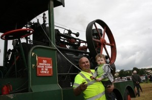 Charlie and Lee Patton, Stranorlar at the Finn Valley Vintage Rally and Threshing Day last year.