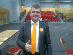 Independent John O'Donnell after being elected to Donegal County Council in May.