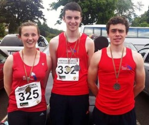 Katie Hoad, Caolan OCallaghan and Christopher Doherty winners at Antrim