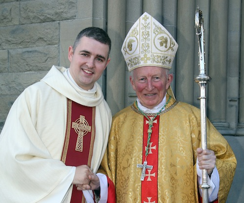 Rev Stephen Gorman with the Bishop of Raphoe, Dr Phillip Boyce. Pic by Brian McDaid.