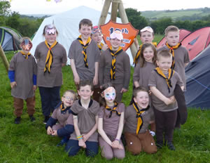 19th Donegal (Lifford) Beaver Scouts who were Monkeys for the weekend.  ((c) North West Newspix)