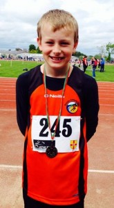 Gold for Patrick Marry in the U-12 High Jump and Bronze in the Long Jump