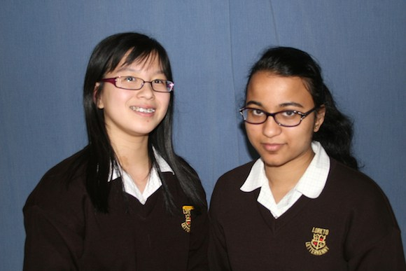 Tessa Ah Heng and Niamh Farrell were identified as high achievers in Mathematics in the 2013 Junior Certificate.
