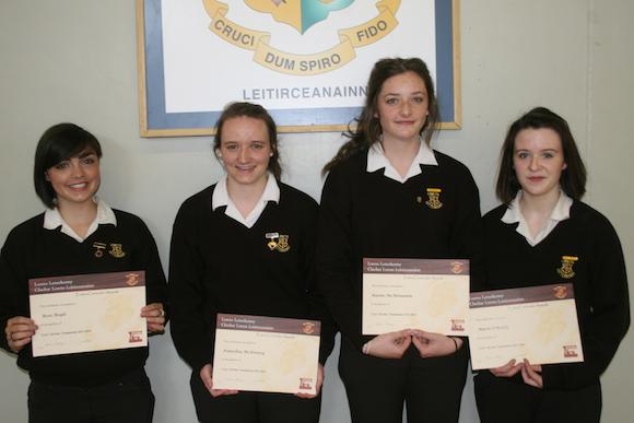 Ulster Colleges GAA All Stars -Rose Boyle, Kaneshia Mc Kinney, Naomi Mc Menamin and Marie O' Reilly
