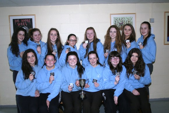 Schools'  Rugby Team who won the Donegal Schools' Rugby Cup