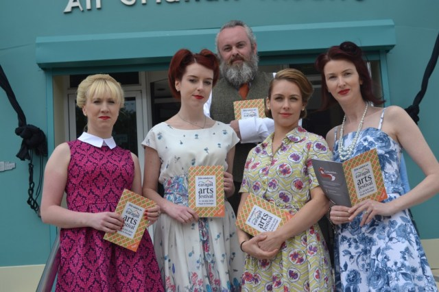 """In honour of the festival's centrepiece production """"Fiesta"""" the Earagail Arts team went vintage with hair styled courtesy of the Patrick Gildea Hairdressing Team."""