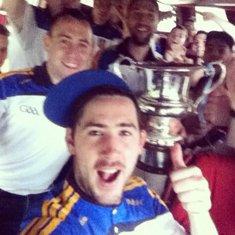 Kilcar captain Mark McHugh takes a 'selfie with the rest of the victorious Kilcar side after their All-Ireland Gaeltacht victory in Galway.