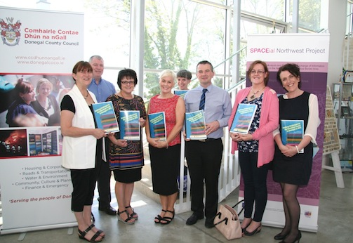 Members of the Economic Security Subgroup of the Childrens Services Committee who commissioned report Profiling Challenges in the Education Sector in Donegal. L to R: Anne McAteer, HSE, Peter Walker HSE, Rosemary Lyons, Inishowen Development Partnership, Lorraine Thompson Donegal Youth Service, Genieveve Gavin DLDC, Liam Ward Donegal County Council, Mary McBride Donegal County Council and Loretta McNicholas Donegal County Council.