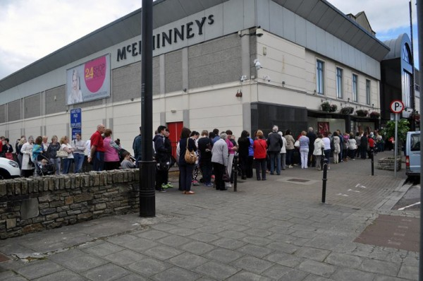 Hundreds of people have flocked to McElhinneys today, for the start of the summer sale.