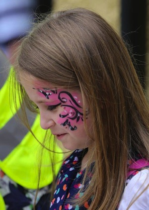 Face painting was part of the fun at the SAt Eunan's NS fun day.