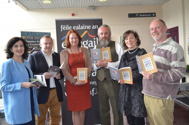Pictured at the launch of Earagail Arts Festival are Failte Ireland's Joan Crawford, Festival Chairman Dessie Larkin, Patricia Mc Bride, Festival Director, Paul Brown, Meabh Conaghan and Shaun Hannigan. Earagail Arts Festival is funded by The Arts Council of Ireland, Fáilte Ireland and Donegal County Council.