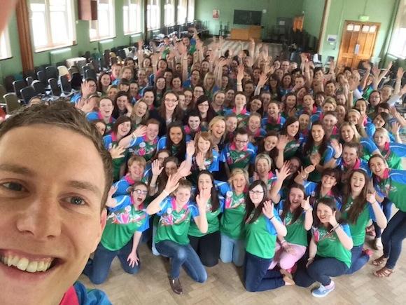 John McAreavey's selfie with camp leaders