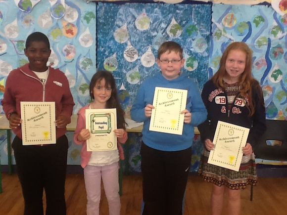 Special awards for these great children,drama,Gaelic football,spelling b and gymnastics