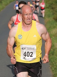 Philip Callaghan of Inishowen AC came home in 5th position and in doing so made it four different clubs in the top five places at the St. Johnston 5K Road Race. He was also 1st in the M40 category. Pic.: Gary Foy