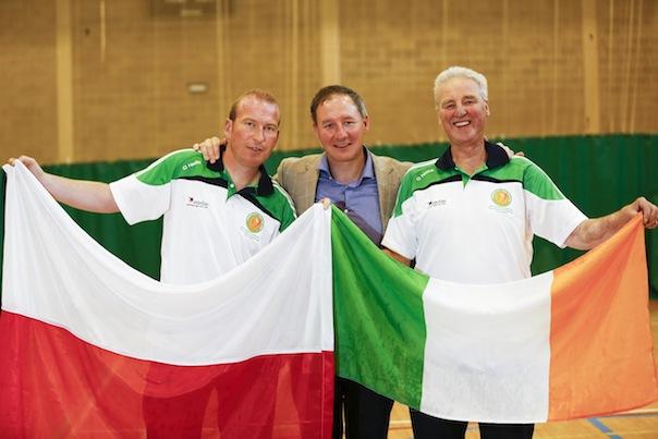 Kieran Murray and Hugo Boyce with Jim Gavin, Dublin County Football Manager
