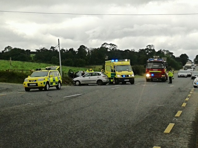 Scene of the two car collision just outside Murray Motors in Manorcunningham.