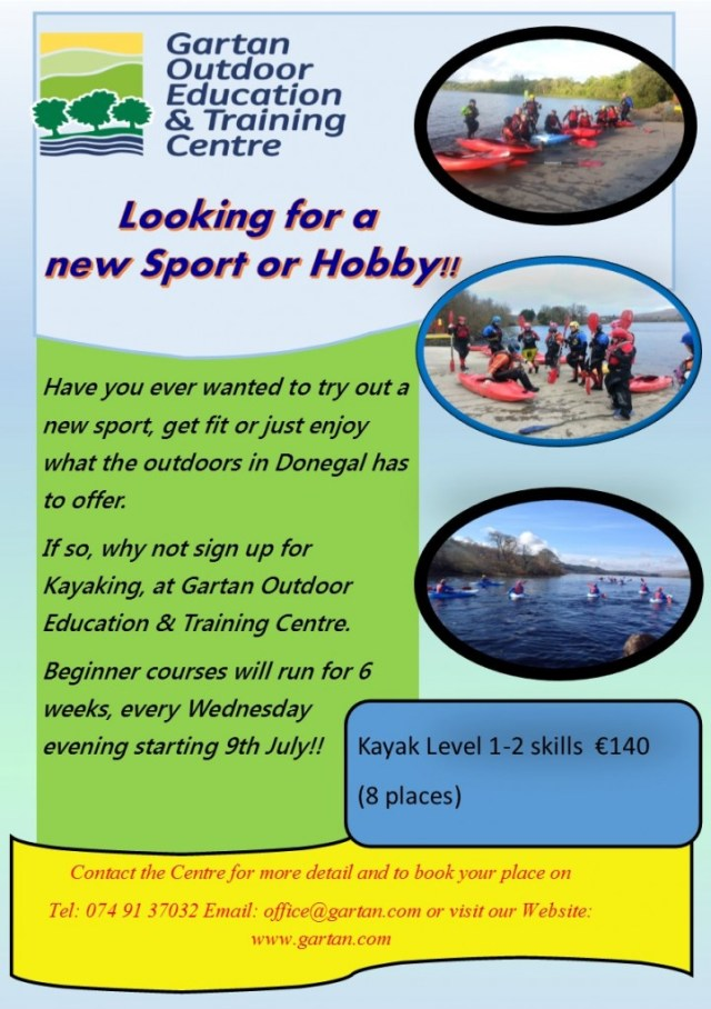 Kayak Course flyer 9th July