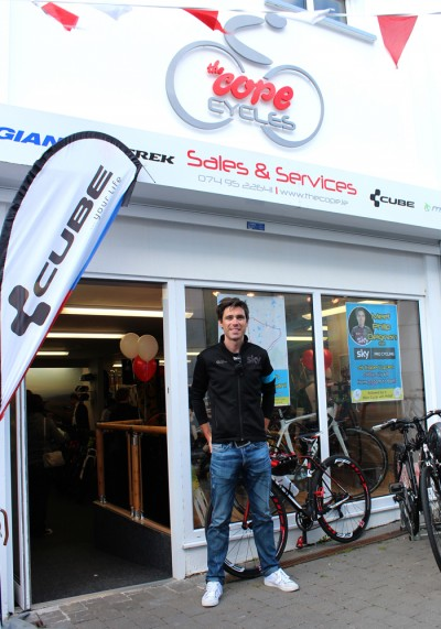 Philip Deignan - Team Sky Cyclist viisting Cope Cycles Dungloe recently