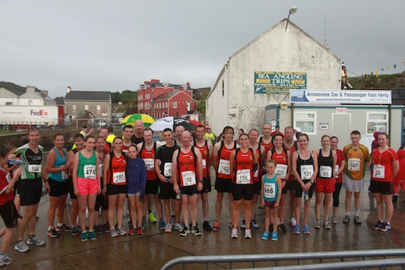 Who cares about the rain. These brave runners all took part in the Burtonport 5K