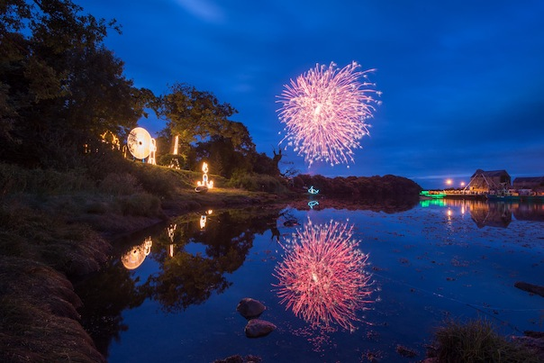 Clive Wasson's stunning fireworks photo over the River Lennon in Ramelton last night.