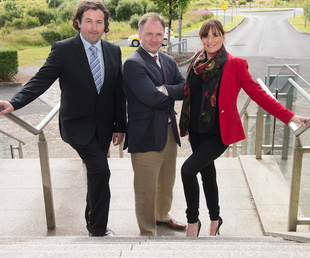 Michael Margey, Head of School of Business LYIT with Shane Magee, Operations Manager at Errigal Seafood and Sarah Meehan who works with Donegal Tourism. Photo Clive Wasson.