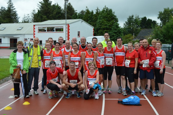 Members of Lifford AC at the Riverine 10K