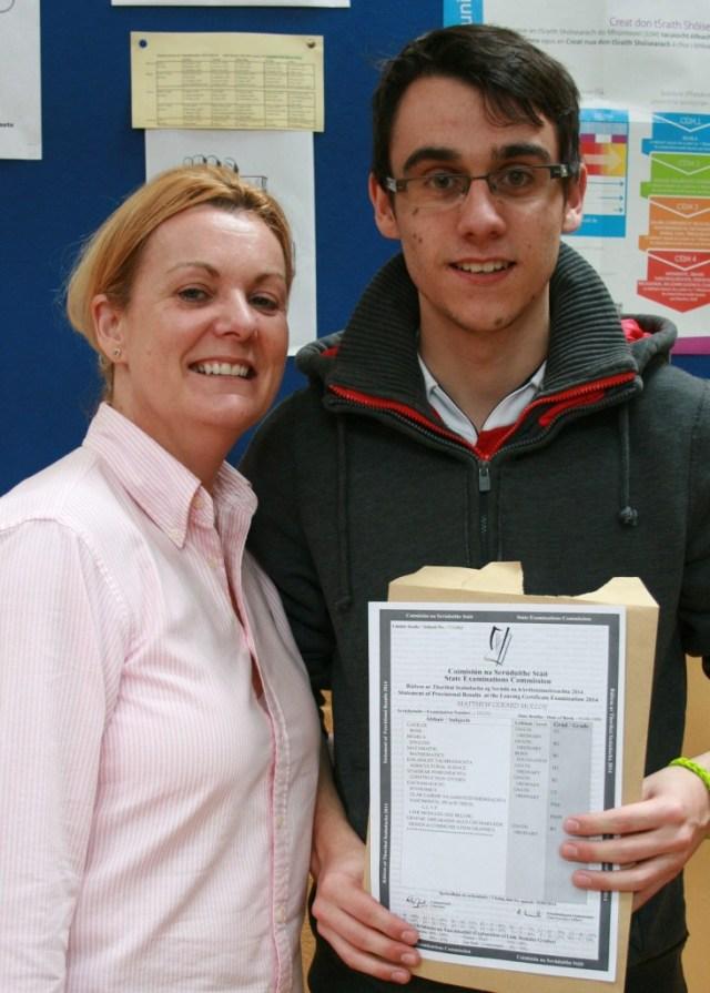Crana College student Matthew Molloy pictured with his proud mum Jacqueline.