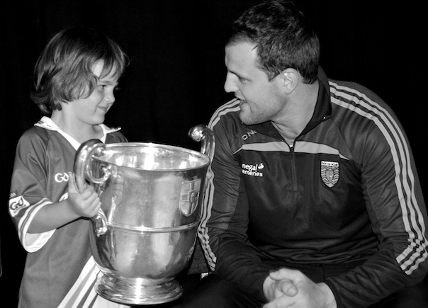 Donegal's Michael Murphy with Zac Gallagher at Glenswilly Club.  Photo: Geraldine Diver