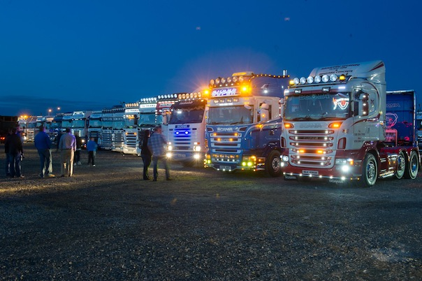 Truck lights on display at the North West Truck Festival on Saturday evening last. All pictures by Clive Wasson.