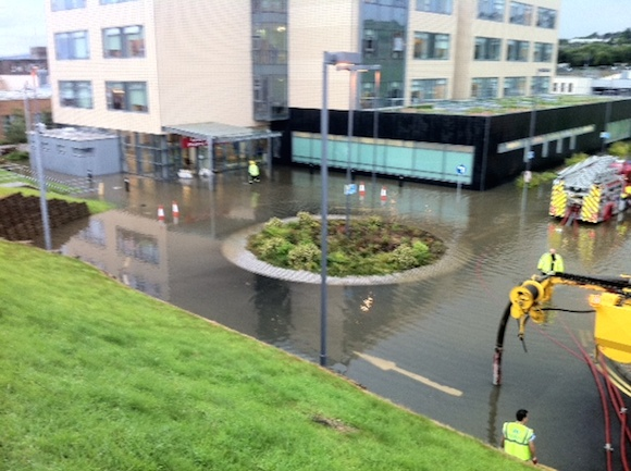The scene this evening at the Emergency Department